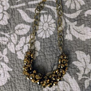 Lulu frost inspired gold Beaded Necklace